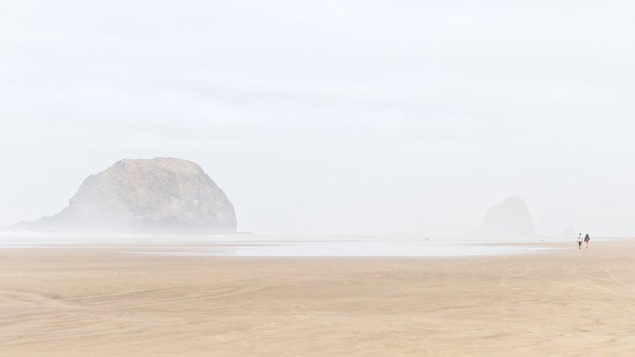 A Misty Morning on Arcadia Beach