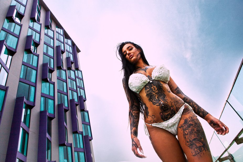 Me and Vixen van der Zee made some nice bikini fashion shots in and by the roof top pool at the h...