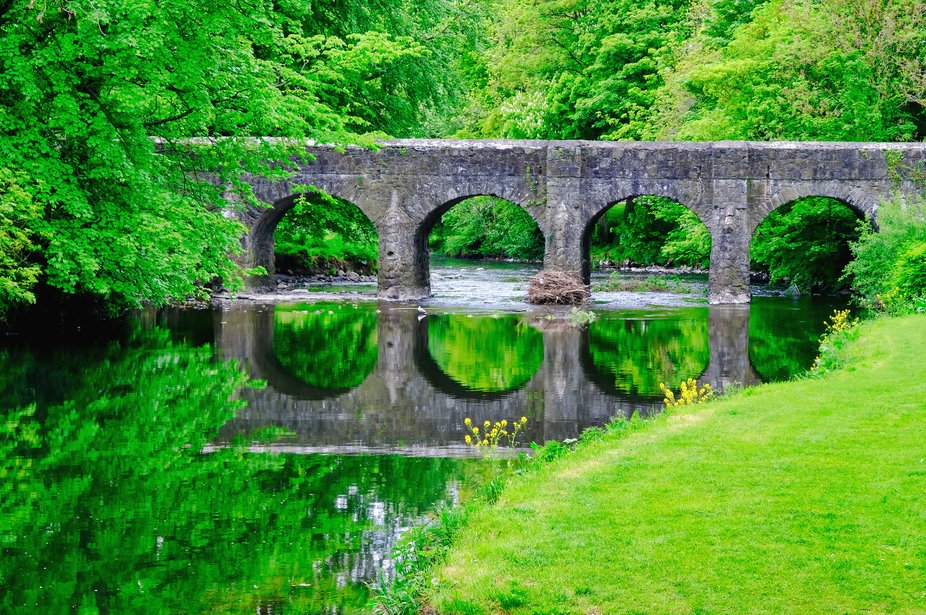 Bridge over 6 Mile Water in Antrim Castle Gardens Ireland