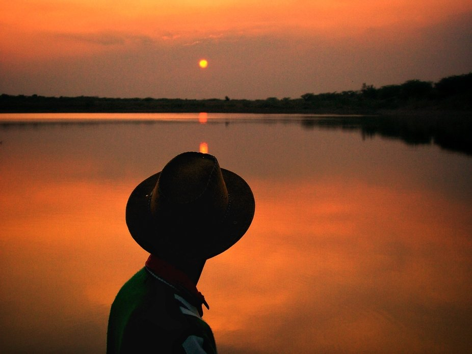 Shot during the sunset near the reservoir in Sirohi, Rajasthan.
