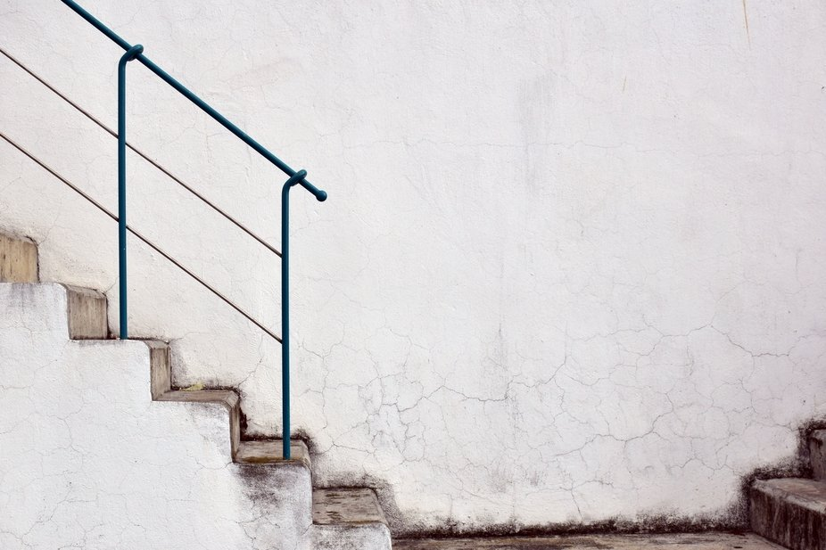 Cracks and stairs, just wonderful