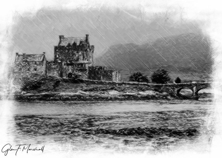 It Rains Often in Scotland (Eilean Donan Castle)