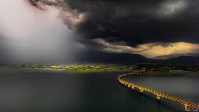 Artificial lake of Polyfytos