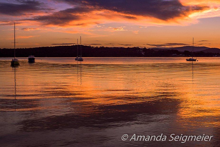 Sunset at Lake Macquarie.