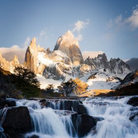 Patagonia is famous for its dramatic mountains and waterfalls like this one!