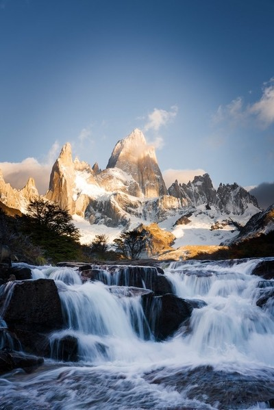 beautiful waterfalls of Patagonia