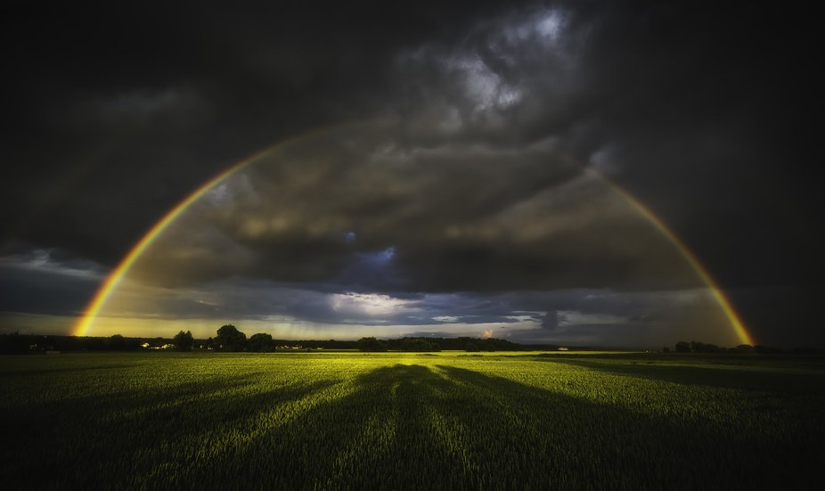 The photo was created in a storm near the city of Maribor, Slovenia. It was just before the sunse...