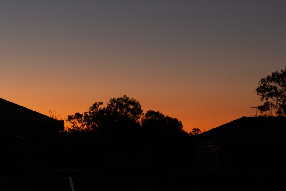 my first attempt at shooting a sunset, taken from my backyard