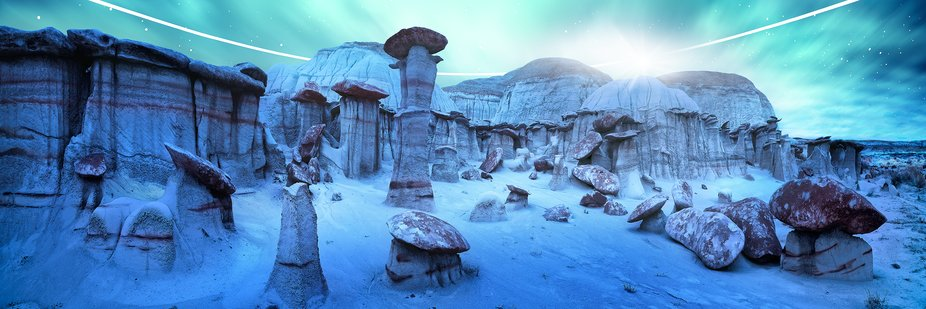 Bisti Wilderness Natural Area in New Mexico is a true landscape photographers lottery win. It is ...