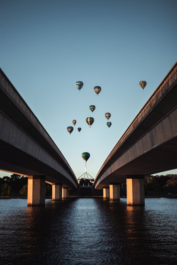 Sunrise Balloons in Australia's Capitol by SeasonAscent