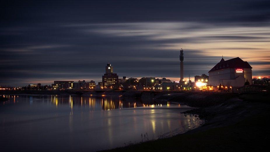 Moncton Reflection at Night