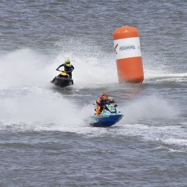 No quarter was asked or given during the AquaX Water Ski Championships