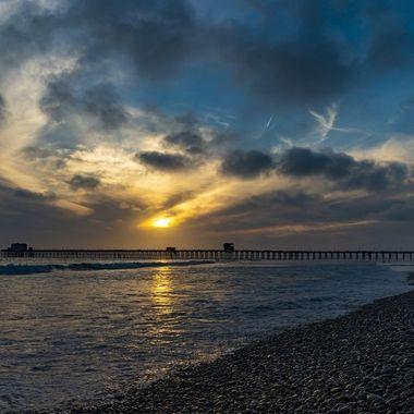 Sunset near the Oceanside Pier