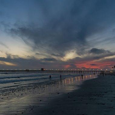 Sunset near Oceanside Pier