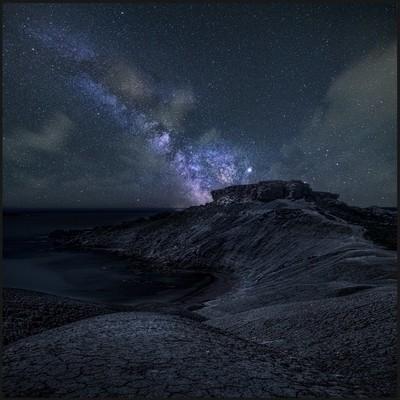 night in the mountais