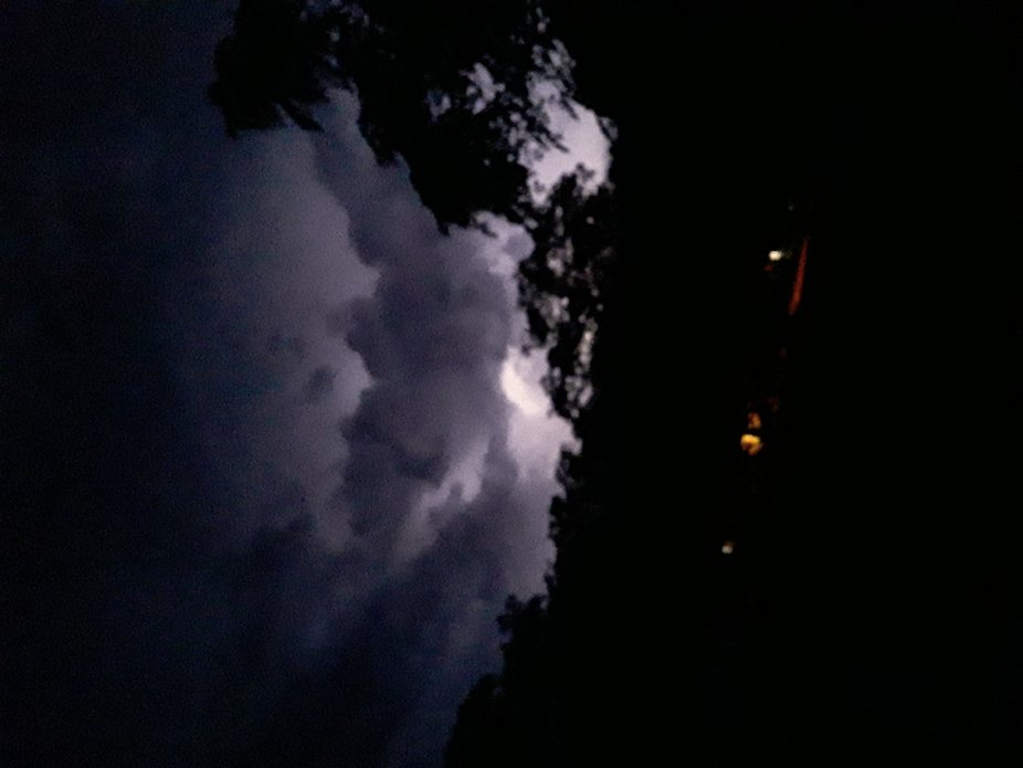 a severe thunderstorm here in my town