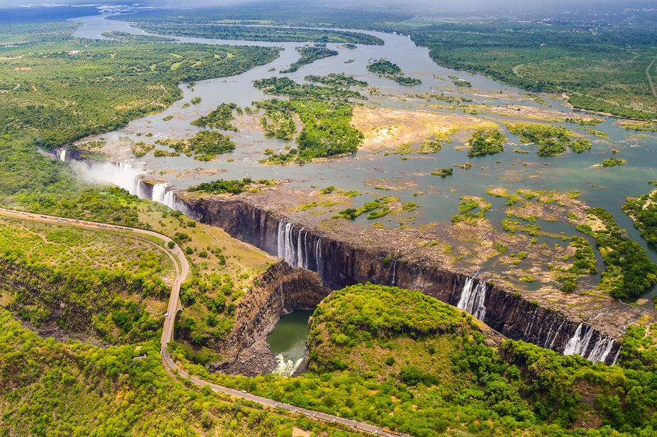 One of the Seven Natural Wonders of the World, the Victoria Falls are wider than Niagara and high...