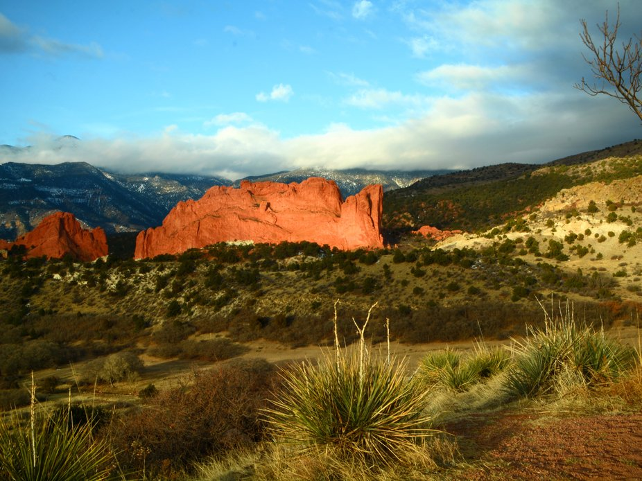 Sunrise on 'Garden of The Gods' in Colorado Springs, Colorado