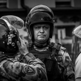"Riot police was used in Moscow against the peaceful march against corruption at the city hall and the ""law enforcement"". 500+ demonstra..."