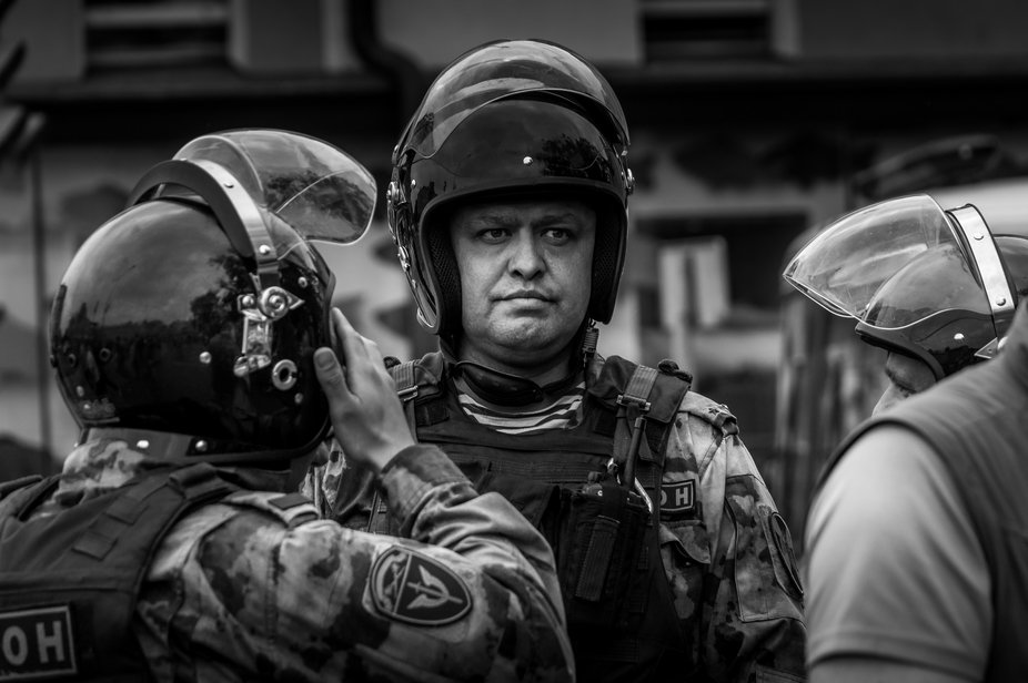 Riot police was used in Moscow against the peaceful march against corruption at the city hall and...