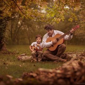Father and son love sharing time together.