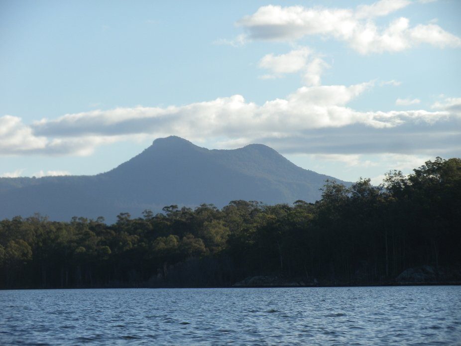 We took a small row boat out in the middle of the lake and caught this picture of the volcano.