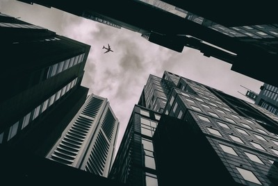 Plane over the City