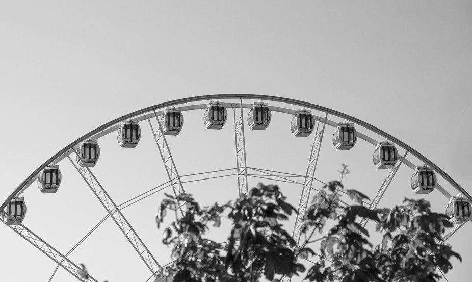 Liseberg, the amusement park in Gothenburg and their Ferris wheel
