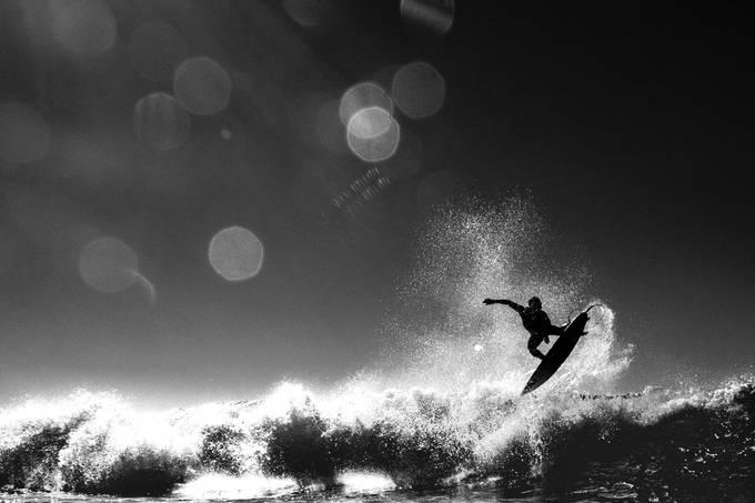 surfing by adelmomassola - Movement In Monochrome Photo Contest