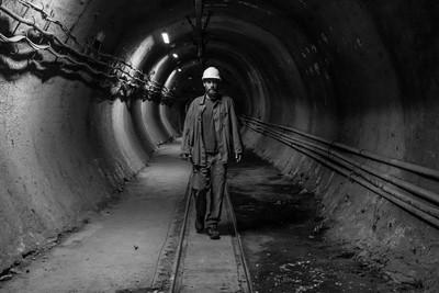 in a coal mine