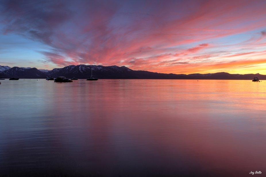 Lake Tahoe Sunset.