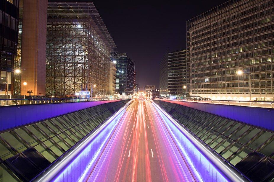 """Rue de la loi"" in Brussels, Belgium"