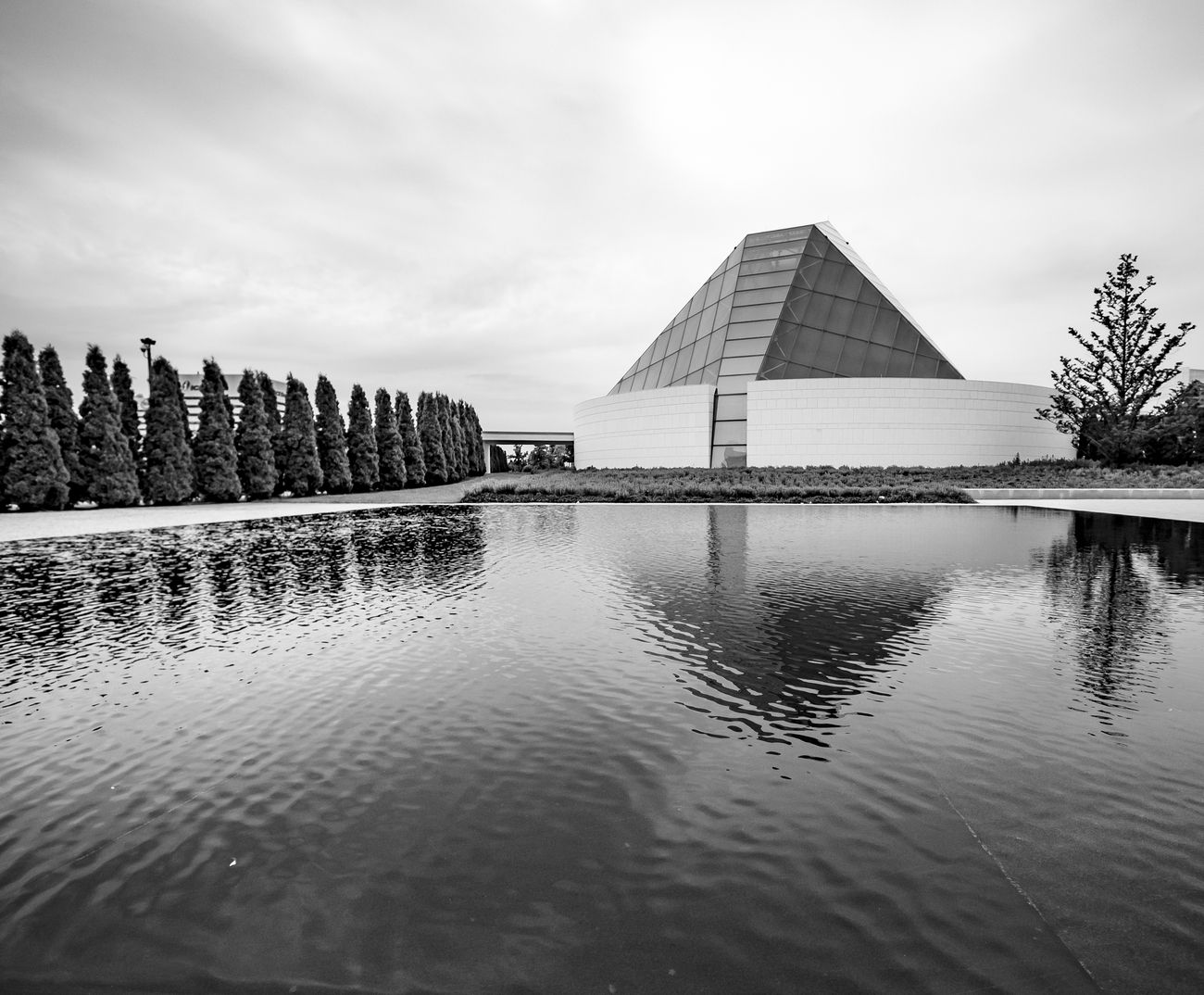 Pyramid type building besides Ismaili Centre, Toronto, Ontario, Canada