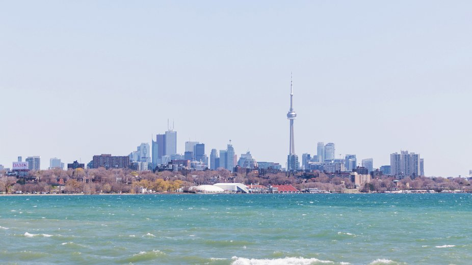 A light and airy Toronto skyline view depicts a calming breezy morning.
