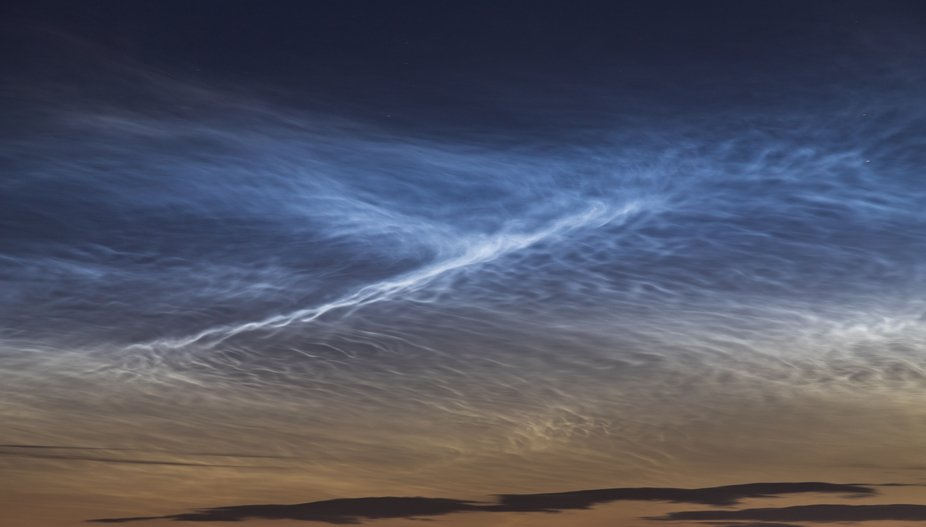 Noctilucent clouds, or night shining clouds, are tenuous cloud-like phenomena in the upper atmosp...