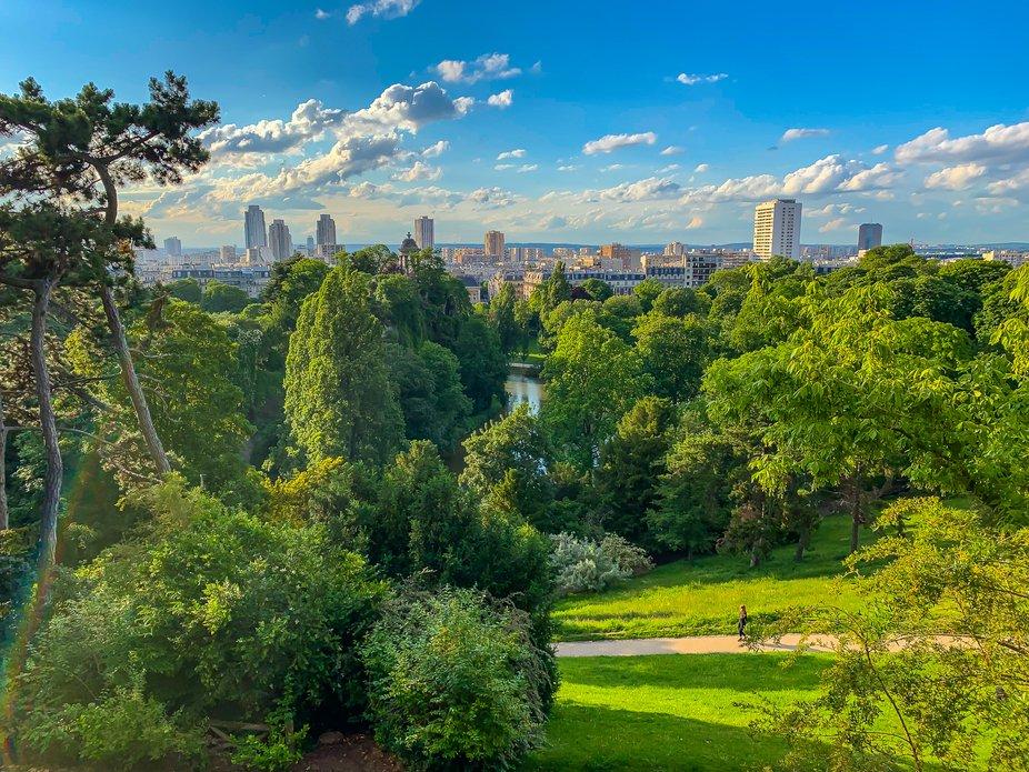 View over a Paris park