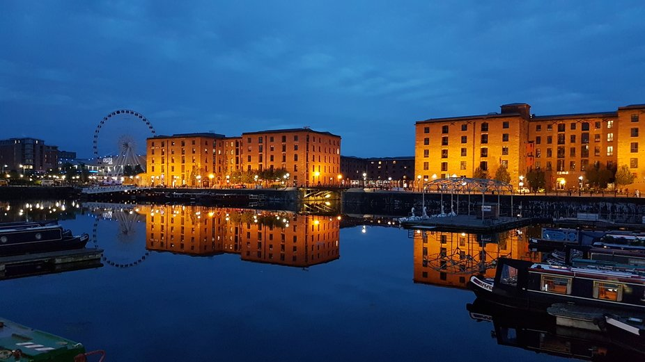 Evening on the dock at Liverpool.