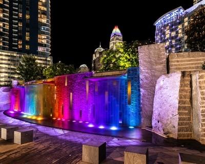 HDR Rainbow Fountain