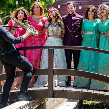Wedding and Saxophonist