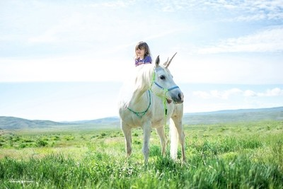 Hannah and her Unicorn