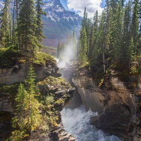 Scenic Athabasca Falls