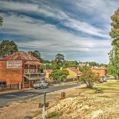 Hill End is a former gold mining town in New South Wales, Australia. The town is located in the Bathurst Region