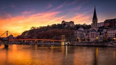 Sunset on the Saône ...