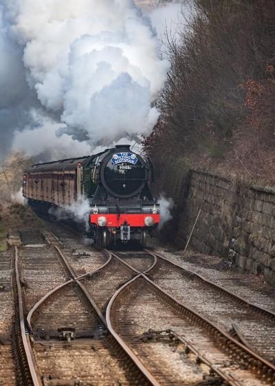 Flying Scotsman in steam
