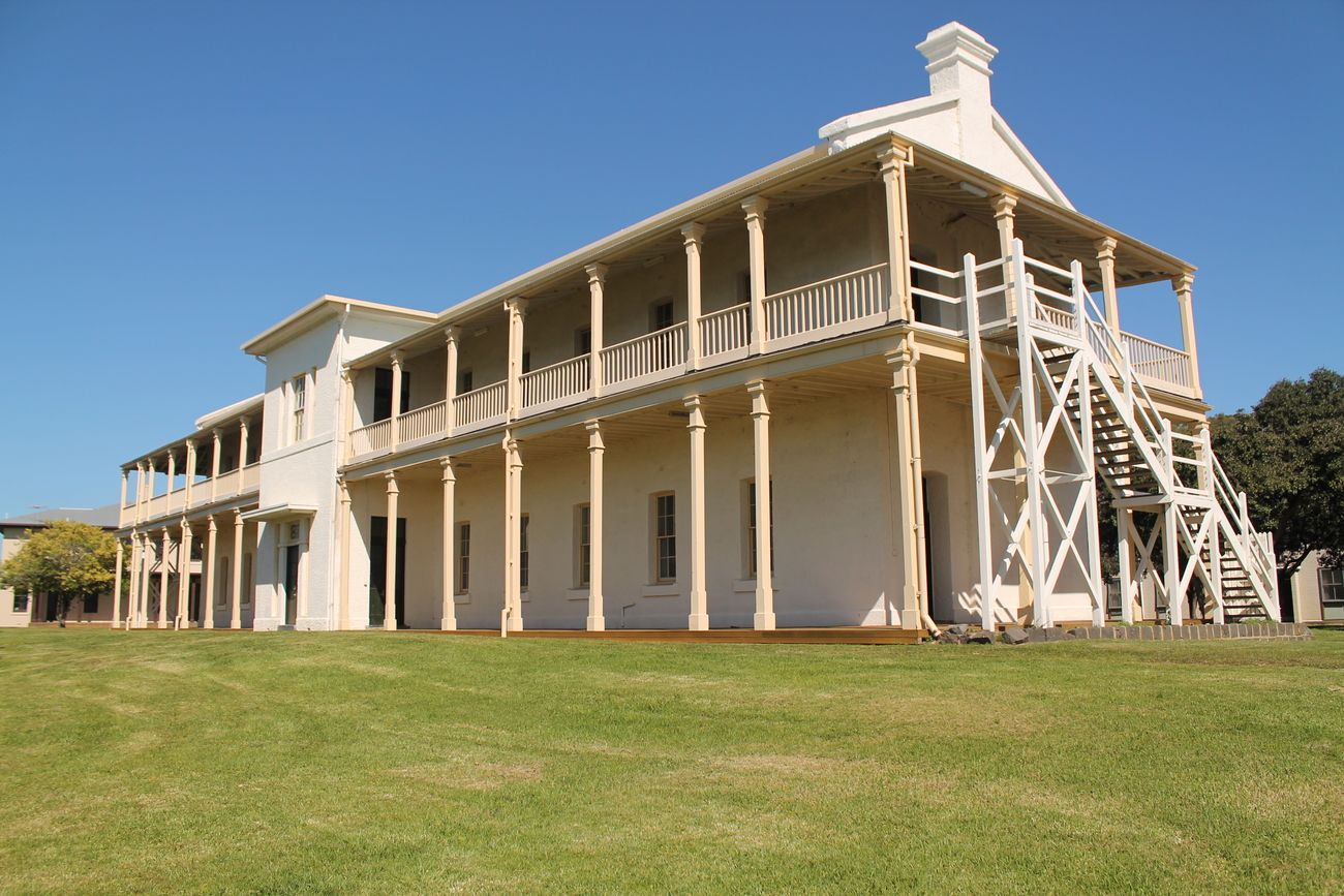 a building at the old victorian quarantine station