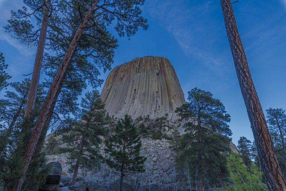 This shot was taken while on a hike around Devils Tower.  I decided to take some shots around sun...