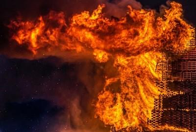 Bonfire almost burned down