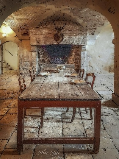 Dining table of the servants of the castle