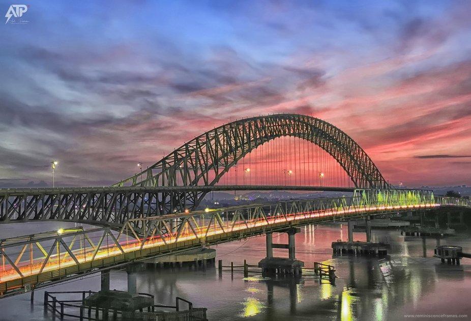 One of the beautiful bridge situated at Samarinda in Indonesia