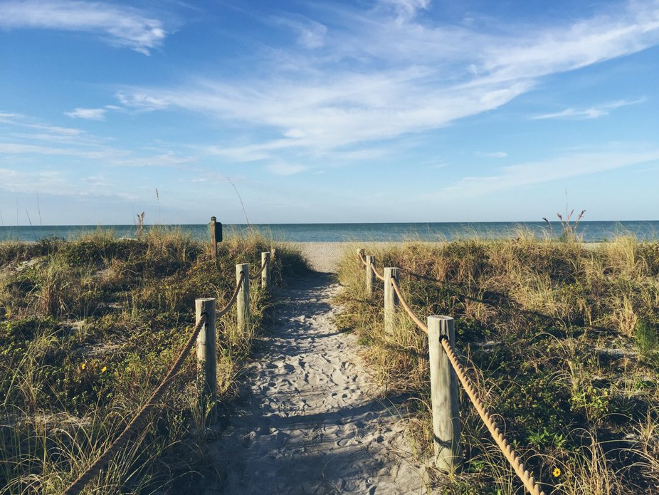Morning visit to Turtle Beach during my first trip to Sarasota, Florida.